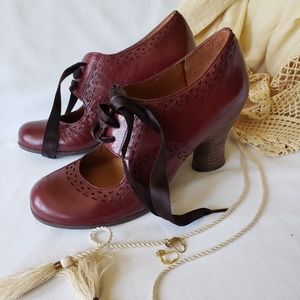 Anthropologie Naya Jada Granny Lace Up Shoes